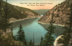 Eagle Nest Lake and Dam, Cimarron Canyon Postcard