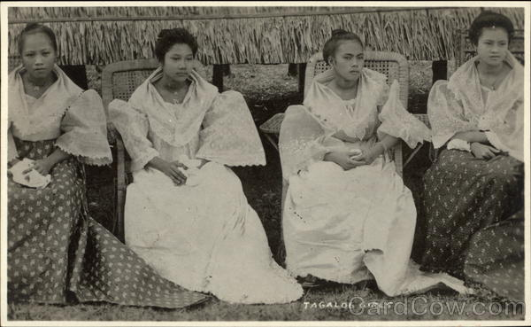 Tagalog Girls in Dress Philippines Southeast Asia