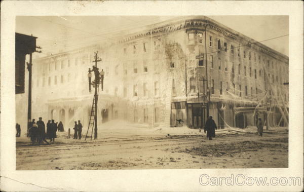 1918 Fire Damaged Building in Niagara Falls New York