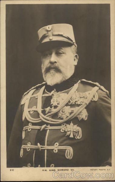 Portrait of H.M. King Edward VII in Military Wear Royalty