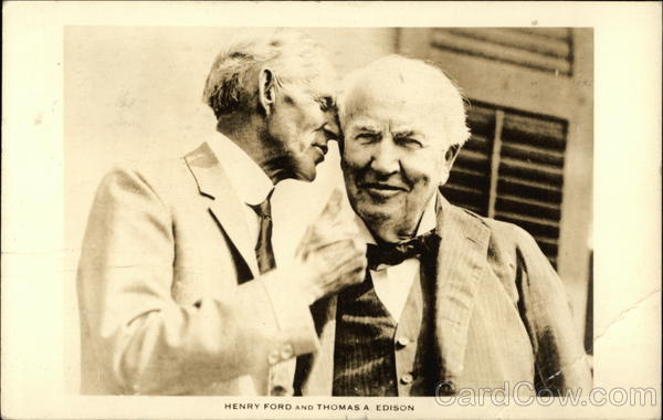Henry Ford and Thomas A. Edison Men
