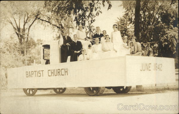 Baptist Church Parade Float in June 1842 Events