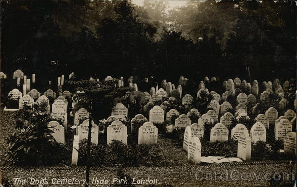 The Dog's Cemetery, Hyde Park London United Kingdom