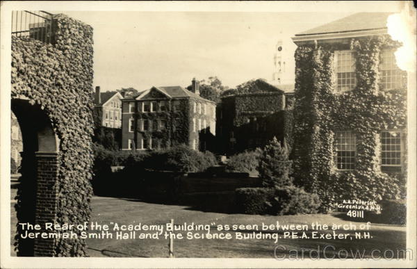 Academy Building, Seen Between Arch of Jeremiah Smith Hall & Science Building Exeter New Hampshire
