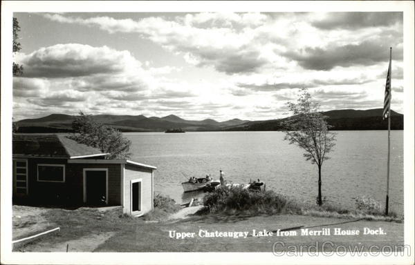 Upper Chauteaugay Lake from Merrill House Dock New York