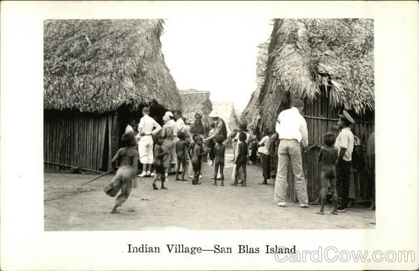 Indian Village San Blas Island Panama