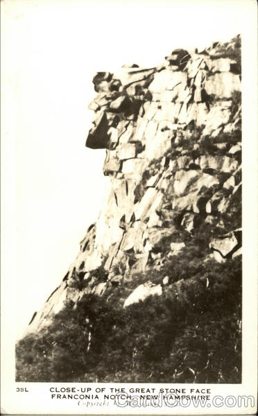 Close-Up of the Great Stone Face Franconia Notch New Hampshire