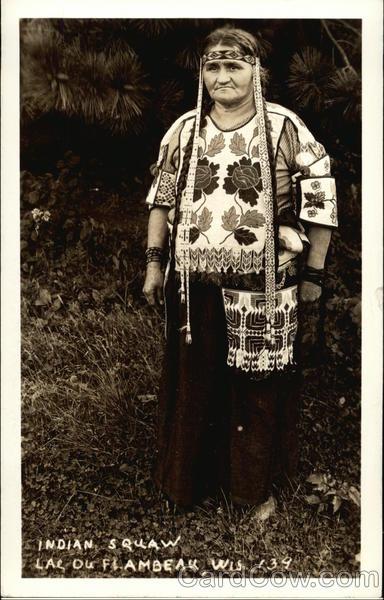 Native American Woman Lac du Flambeau Wisconsin