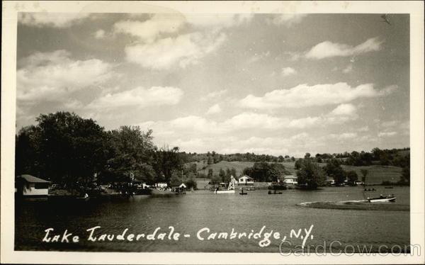 lake lauderdale cambridge  ny postcard