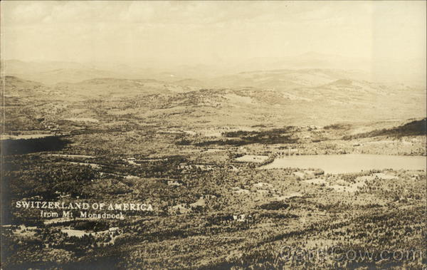 Aerial View - Switzerland of America from Mt. Monadnock White Mountains New Hampshire