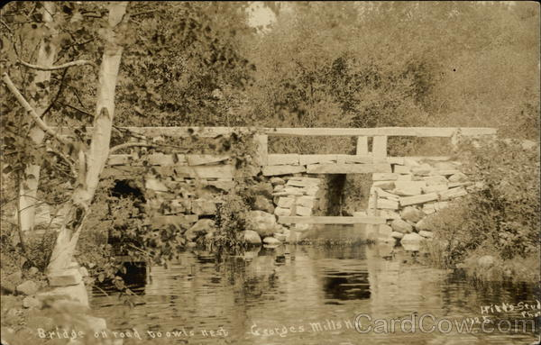 Bridge on Road to Owls Nest Georges Mills New Hampshire