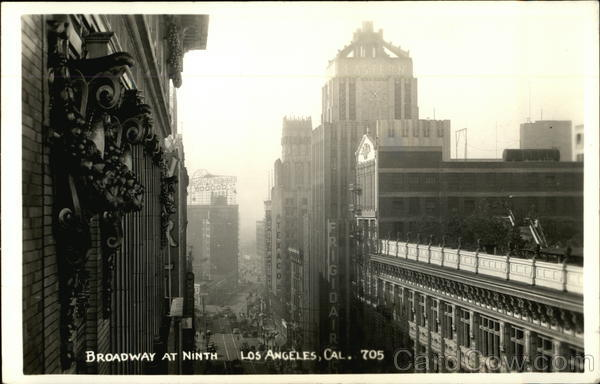 Broadway at Ninth - View from Upper Story Los Angeles California