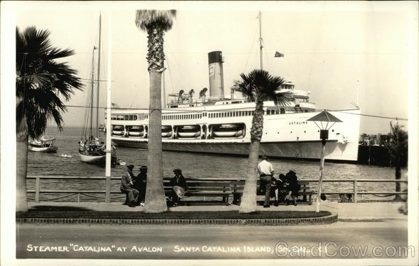 Steamer Catalina at Avalon Santa Catalina Island California
