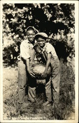 Two African American Boys with a Watermelon