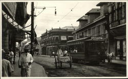 Trolley on a Street in the Philippines