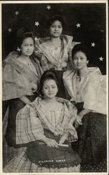 Filipino Girls in Native Dress