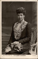 Portrait of H.M. Queen Alexandra with Dog