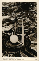 Aerial View of Theme Center and Surrounding Area - New York World's Fair 1939