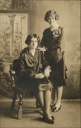 Two Women Posing for Portrait