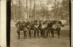 Group of 5 Men with Stringed Instruments