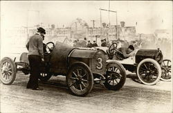 Early Race Cars at the Start Line