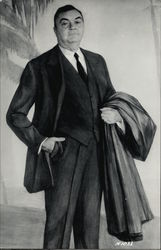 Man in a Suit holding a Jacket