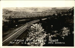 From Mt. Gaylor Tower, Top of U.S. Highway 71, Ozarks Postcard