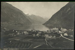 View of Odde, Hardanger Fjord in Norway