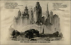 Chicago 1833 to 1933: A Century of Progress Postcard