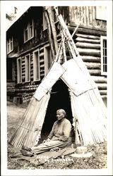 Woman in a Tepee