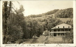 Hillside and Lodge Postcard