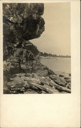 Rocky Coast, Long Island Postcard