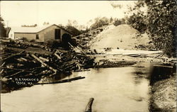 M.S. Hancock's Mill - Logs in Water
