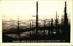 Sunrise Above the Clouds on Mount Angeles