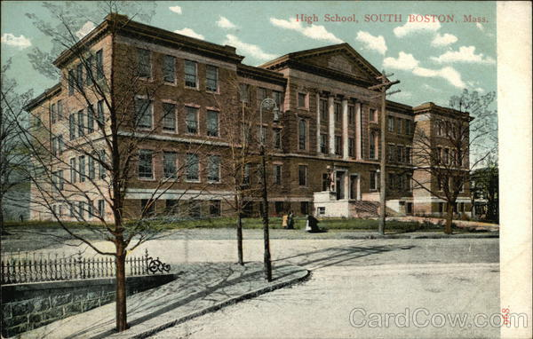 High School, South Boston, Mass Massachusetts