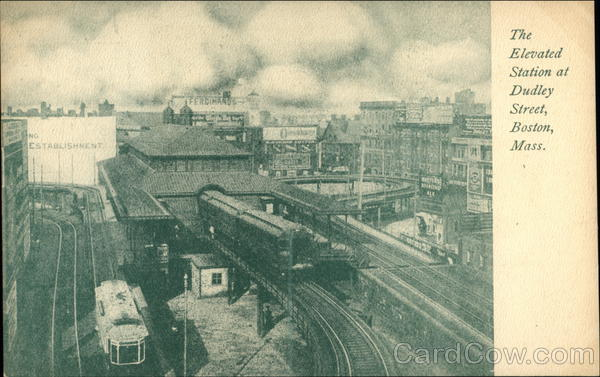 Elevated Station at Dudley Street Boston Massachusetts