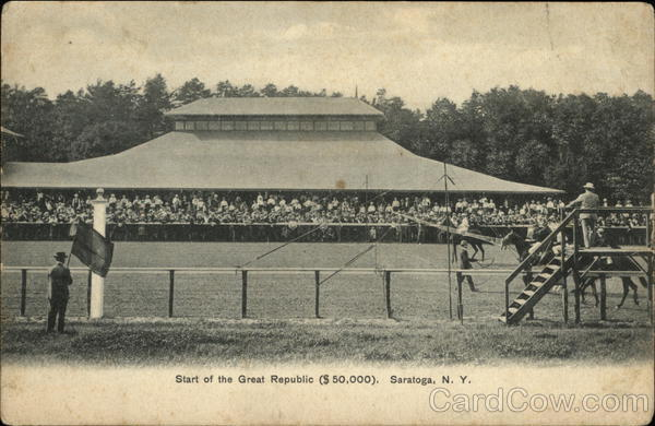 Start of the Great Republic ($50,000) Horse Race Saratoga New York
