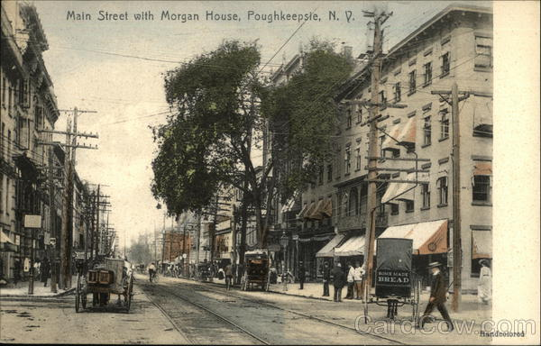 Main Street with Morgan House Poughkeepsie New York