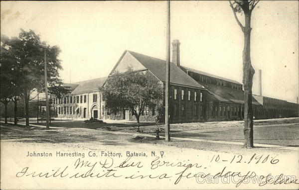 Johnston Harvesting Co. Factory Batavia New York
