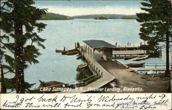 Steamer Landing, Blodgetts Lake Sunapee New Hampshire
