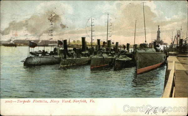 Torpedo Flotilla, Navy Yard Norfolk Virginia