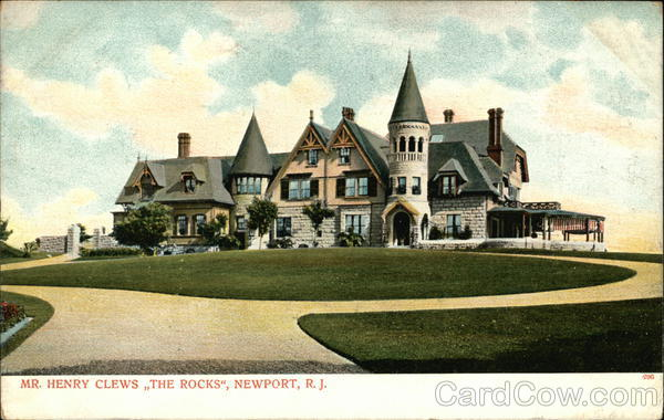 Mr. Henry Clews' Residence - The Rocks Newport Rhode Island