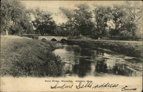Stone Bridge, Mechanics Attleboro Massachusetts