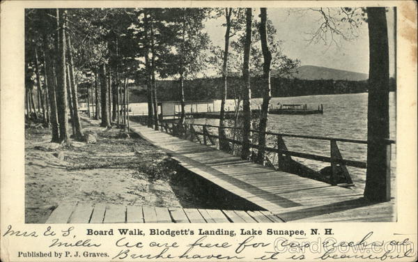 Board Walk, Blodgett's Landing Lake Sunapee New Hampshire
