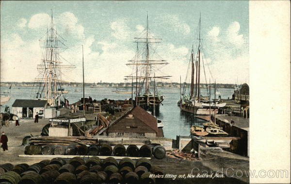 Whalers Fitting Out New Bedford Massachusetts