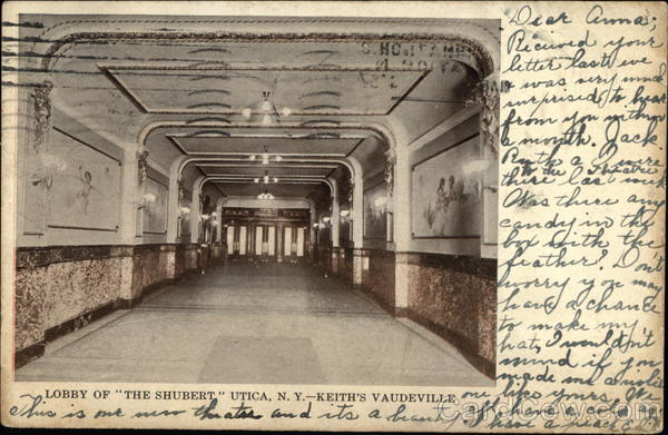 Lobby of the Shubert, Keith's Vaudeville Utica New York