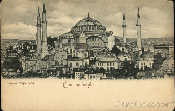 Mosquee d'Aya Sofia Constantinople (Istanbul) Turkey