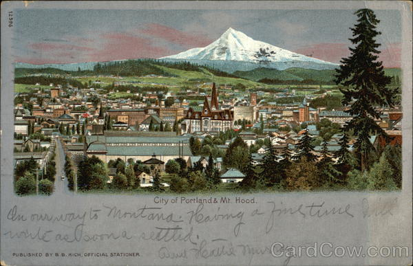 City and Mt. Hood Portland Oregon