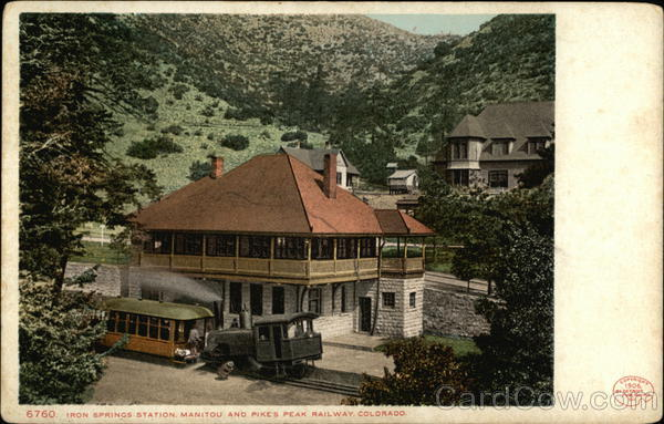 Iron Springs Station and Pike's Peak Railway Manitou Springs Colorado