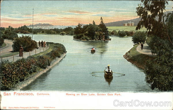 Rowing on Stow Lake, Golden Gate Park San Francisco California